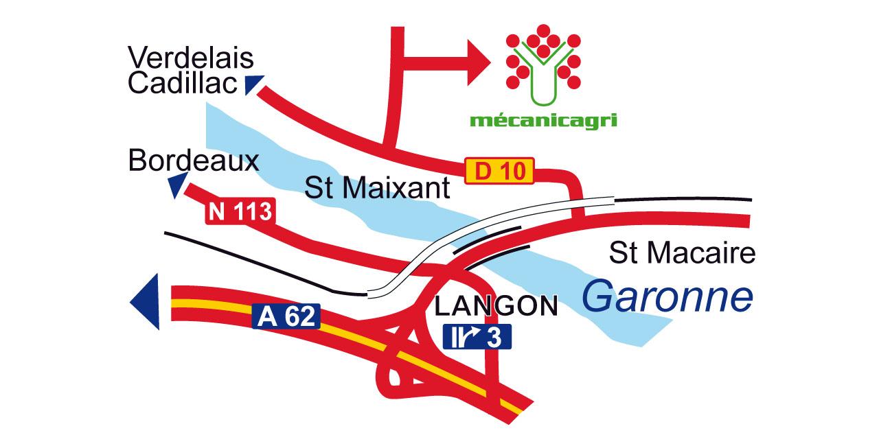 Mecanicagri - Carte localisation